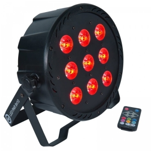 LIGHT4ME LED PAR 9X10W MKII RGBW PILOT IR