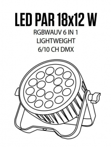 Fractal Lights PAR LED 18 x 12 W - lampa kompaktowa Led Par